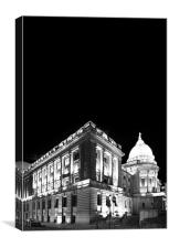 Mitchell Library at Night, Canvas Print