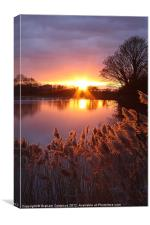 Reservoir Sunset, Canvas Print