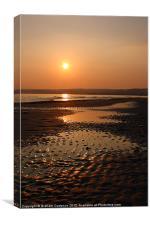 Cornish Sunset, Canvas Print