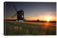 Pitstone Windmill Sunset, Canvas Print