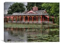 Pagoda and Lily Pond, Woburn Abbey, Canvas Print
