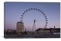 London Eye at Sunset, Canvas Print