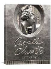 Agatha Christie Monument, Canvas Print