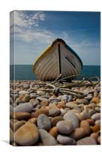 Chesil Beach boat, Canvas Print