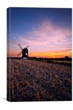 Windmill Sunset, Canvas Print