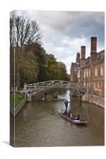 Cambridge Punting, Canvas Print