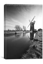 Horsey Mill, Norfolk, Canvas Print