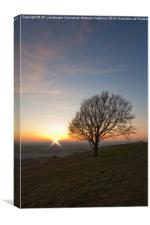 Chilterns Sunset, Canvas Print
