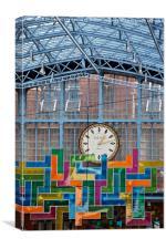 Dent Clock, Canvas Print