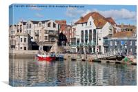 Weymouth Harbour Reflections, Canvas Print