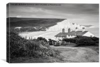 Seven Sisters & Fishermans Cottages, Canvas Print