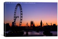 London Skyline at Sunset, Canvas Print