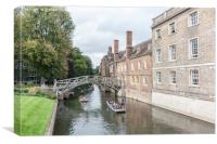 Mathematical Bridge, Cambridge, Canvas Print