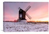 Pitstone Windmill Sunset, Canvas Print