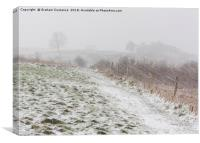Dunstable Downs in Winter, Canvas Print