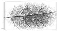mosaic leaf pattern, Canvas Print