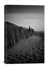 Footsteps in the Sand, Canvas Print