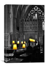 Church by Light, Canvas Print