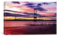 Sunset Over Aust, Canvas Print