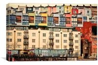 A View from the Bristol Harbour, Canvas Print