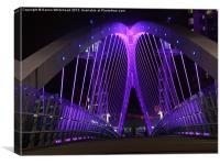 Downlit Bridge in Indigo, Canvas Print