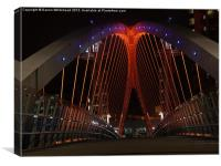 Downlit Bridge, Canvas Print