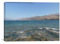 Kefalonia Mountains with Fish Eye Lens, Canvas Print