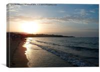 Dusky Beach, Canvas Print