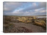 Moody Sky at Aberffraw, Canvas Print