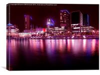 Reflections of Media City, Canvas Print