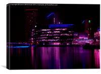 Media City in Purple, Canvas Print