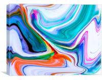 Marble swirl, Canvas Print
