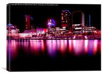 Reflections of Media City (improved), Canvas Print