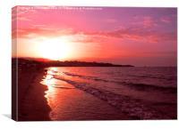 Magenta Sunset, Canvas Print