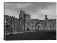 Monochrome Castle, Canvas Print