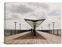 Two Sides Of Boscombe Pier, Canvas Print