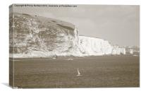 White Cliff's of Swanage, Canvas Print