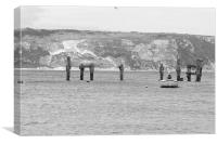 The Old Swanage Pier, Canvas Print