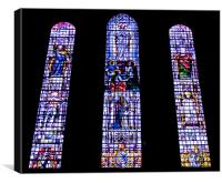 Stained glass of Wells Cathedral, Canvas Print