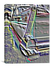 ABSTRACT 1967 CHEVROLET, Canvas Print