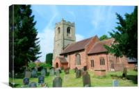 old churchyard ryton village, Canvas Print
