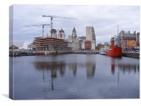 Liverpool - Canning Dock, Canvas Print