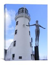 Scarborough Lighthouse and the Diving Belle