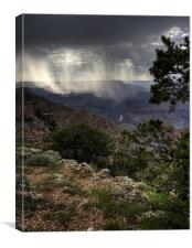 Grand Canyon Storm, Canvas Print