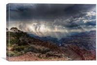Grand Canyon Sunbeams, Canvas Print