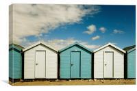 Beach Huts, Dorset, Canvas Print