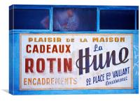French Sign, Canvas Print