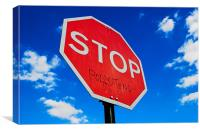 Stop Polluting, Canvas Print
