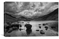 Wastwater with dramatic clouds, Canvas Print