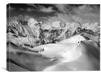 Courchevel, Canvas Print